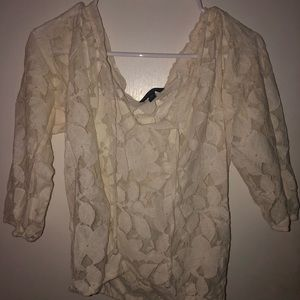 American Eagle Lace Blouse Shirt